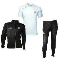 Survêtement SPIDO Noir/Blanc Fuseau + Maillot Cup MC Blanc+ Logo Club