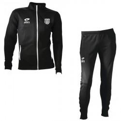 Survêtement SPIDO Noir/Blanc Fuseau + Logo Club