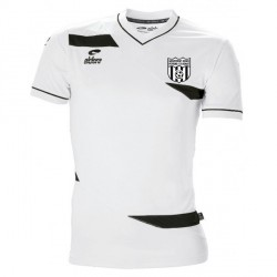 Maillot MC OLYMPIC Blanc/Noir + Logo Club
