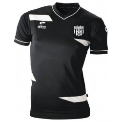 Maillot MC OLYMPIC Noir/Blanc + Logo Club