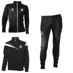 Survêtement SPIDO Noir/Blanc Fuseau + Sweat Zippé VICTOIRE N/B + Logo Club