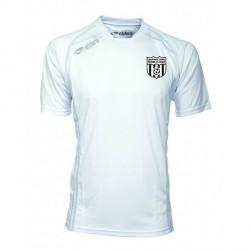 Maillot CUP Manches Courtes Blanc + Logo ClubNoir