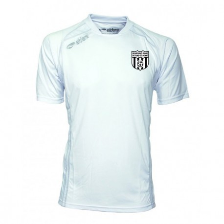 Maillot CUP Manches Courtes Blanc + Logo Club