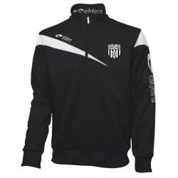 Sweat Zippé VICTOIRE Noir/Blanc + Logo Club